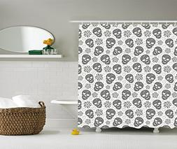 Ambesonne Skull Shower Curtain Decorations by, Abstract Flor
