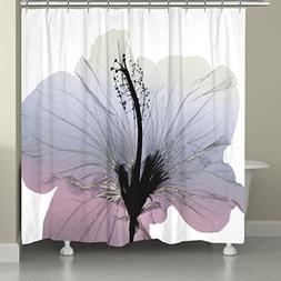 Laural Home SLVRSP74SC Contemporary X-Ray Flower Shower Curt