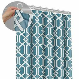 Maytex Smart  Celtic Fabric Shower Curtain with Attached Rol