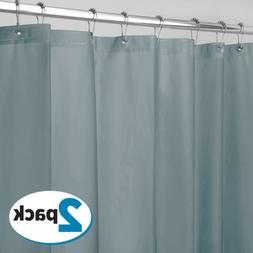 Smoke Shower Curtain Liner Vinyl Mildew Resistant Extra Long