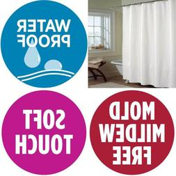 Soft Waterproof Quality Fabric Shower Curtain Liner Free PVC
