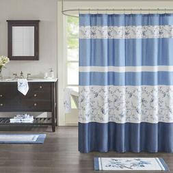 Madison Park Solandis Cotton Printed Shower Curtain