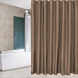 Eforcurtain Solid Brown Shower Curtains for Bathroom with Fr