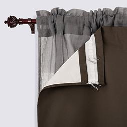 Deconovo Solid Blackout Rod Pocket Curtains Heavy Microfiber