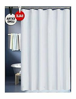 LanMeng Solid Fabric Extra Long Shower Curtain 72-by-78 inch
