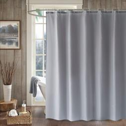 LanMeng Solid Fabric Shower Curtain Liner, Extra Long, Milde
