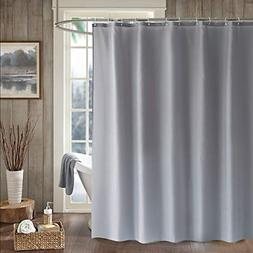 LanMeng Solid Fabric Shower Curtain Liner, Water-Repellent C