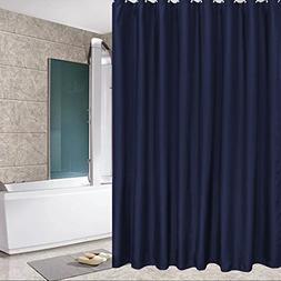 Eforcurtain Standard Size Solid Fabric Shower Curtain Mildew