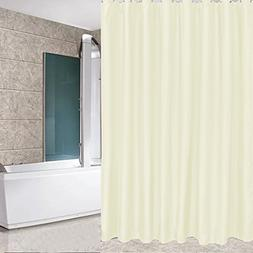 Eforcurtain Solid Hotel Shower Curtain Fabric Waterproof and