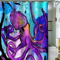 Deny Designs Sophia Buddenhagen Purple Octopus Shower Curtai
