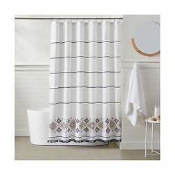 AmazonBasics Southwest Embroidered Shower Curtain