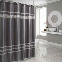 Croscill Spa Tile 72-Inch x 96-Inch Shower Curtain in Grey w