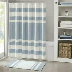 Madison Park Spa Waffle Blue Shower Curtain