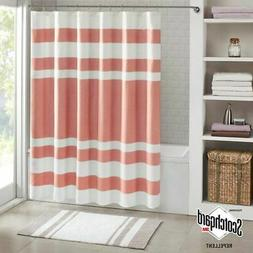 E&E Co Spa Waffle Shower Curtain with 3M Treatment Coral 72x