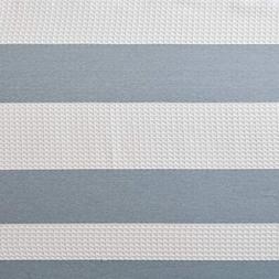 JLA Home INC Spa Waffle Weave Striped Fabric Shower Curtain,