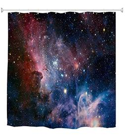 Goodbath Space Shower Curtain, Galaxy Nebula Stars Space Exp