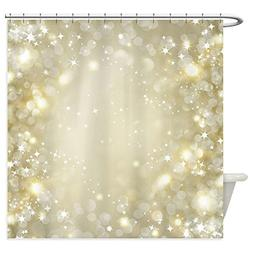 CafePress - Pretty Gold And Silver Sparkle Bokeh Shower Curt