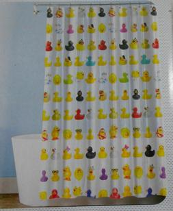 Splash Multicolor Rubber Duckies Duck FUN Kids PEVA 70x72 Sh