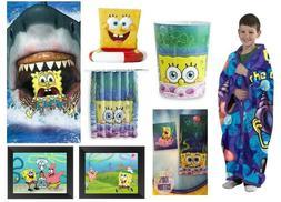 Spongebob Bathroom Accessories Shower Curtain Towels Waste B