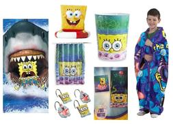 Spongebob Bathroom Accessories Shower Curtain Towels Waste B