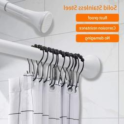 Spring Adjustable Bathroom Tub Shower Curtain Tension Rod 27