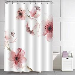 MitoVilla Spring Floral Shower Curtain for Women, Chinese Wa