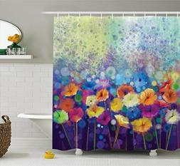 Ambesonne Spring Shower Curtain by, Abstract Floral Petals i