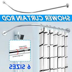 Stainless Steel Adjustable Curved Shower Curtain Rod Bathroo