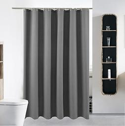 40 x 72 Grey Shower Curtain Liner Water Repellent Fabric Mil