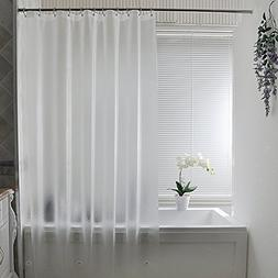 Aoohome Extra Long Shower Curtain Liner, Clear Eva Frosted S