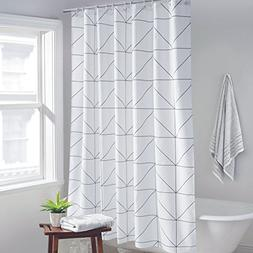 Ufelicity Home Stylish Geometric Plaid Shower Curtain Elegan