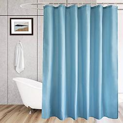 """Aoohome Stall Size 48""""x72"""" Blue Weighted Hem Shower Curtain"""