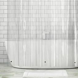 mDesign STALL SIZE Waterproof Vinyl Shower Curtain Liner - 5