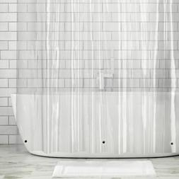 mDesign STALL SIZE Waterproof Vinyl Shower Curtain Liner - 5