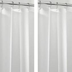 "mDesign STALL SIZED PEVA Shower Curtain Liner - 54"" x 78"", 2"