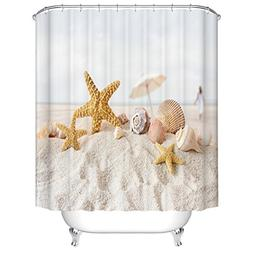 Jibin Bong 72 X 72 Inch Starfish Conch Shell Beach Shower Cu
