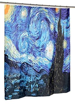 Starry Night Fabric Novelty Shower Curtain – Museum Collec