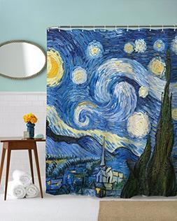 A.Monamour Starry Night Print Vincent Van Gogh Oil Painting