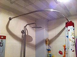Stretchable 304 Stainless L Shaped Bathroom Bathtub Corner S