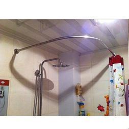 SIKAIQI Stretchable 304 Stainless L Shaped Bathroom Bathtub