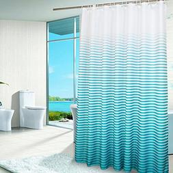 Uforme X-Large Striped Shower Curtain Polyester Waterproof a