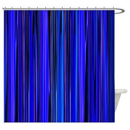 CafePress - Blue Stripes Shower Curtain - Decorative Fabric