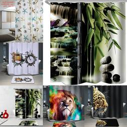 Stylish Waterproof Bathroom Fabric Shower Curtain Panel Shee