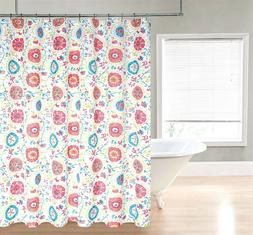 Suzzani Heavy Duty Fabric Shower Curtain - Assorted Colors