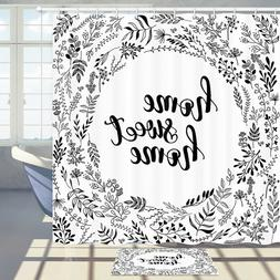 Sweet Home Shower Curtain Bathroom Decor Fabric & 12hook 71I