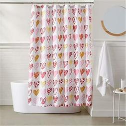 AmazonBasics Sweetheart Shower Curtain - 72 Inch
