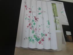 "Tahari Shower Curtain 72x72"" PRINTEMPS 2 Floral ~ Pink, Teal"