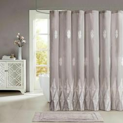 JLA Home INC Tamara Embroidered Shower Curtain Grey 72x72