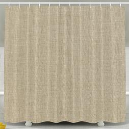 Tan Linen Shower Curtain Art Prints By LitLife Polyester Fab