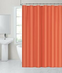 Carnation Home Fashions Tangerine Fabric Shower Curtain Line